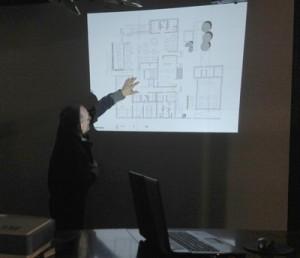 Arquitecto presentación del proyecto hotelero